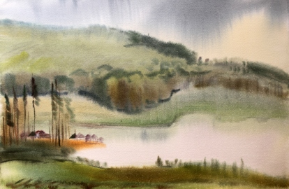 Watercolor landscape